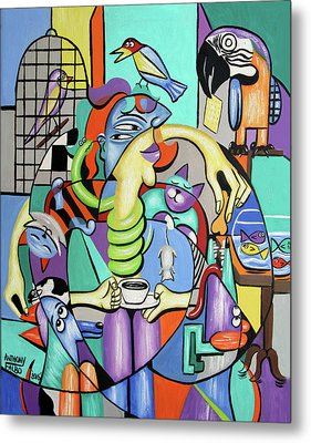 Animal Lover Metal Print by Anthony Falbo