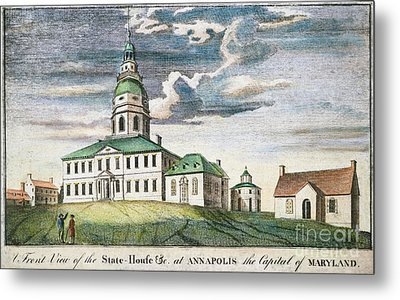 Annapolis, Maryland, 1786 Metal Print by Granger
