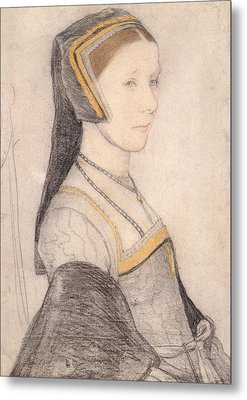 Anne Cresacre Metal Print by Hans Holbein the Younger
