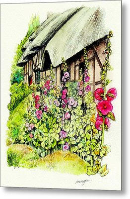Anne Hathaway Cottage Metal Print by Morgan Fitzsimons