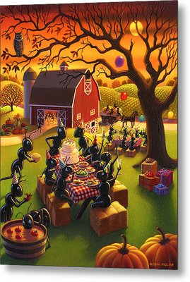 Ant Party Metal Print by Robin Moline