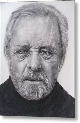 Anthony Hopkins Metal Print by Adrienne Martino
