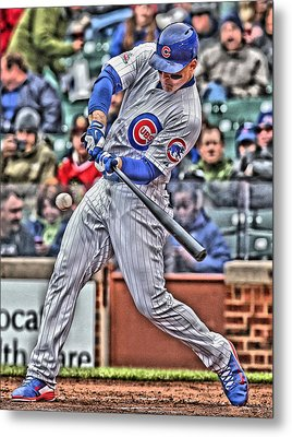 Anthony Rizzo Chicago Cubs Metal Print by Joe Hamilton