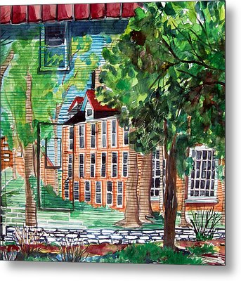 Antioch Yellow Springs Ohio Mural Metal Print by Mindy Newman
