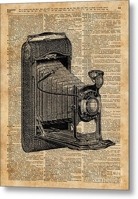 Antique Conley Camera,vintage Encyclopedia Book Page Metal Print by Jacob Kuch
