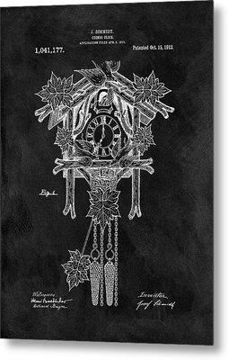 Antique Cuckoo Clock Patent Metal Print by Dan Sproul