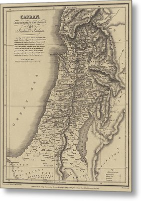Antique Map Of Canaan Metal Print by English School