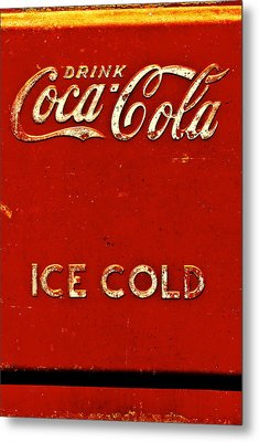 Antique Soda Cooler 6 Metal Print by Stephen Anderson