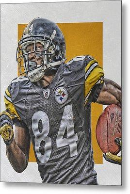 Antonio Brown Pittsburgh Steelers Art 3 Metal Print by Joe Hamilton