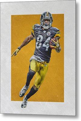 Antonio Brown Pittsburgh Steelers Art Metal Print by Joe Hamilton