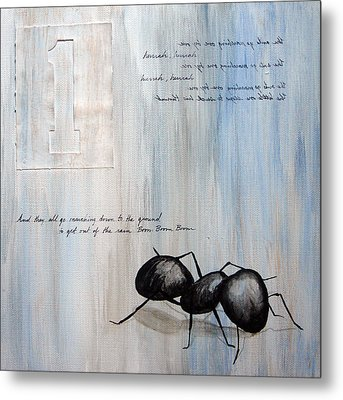 Ants Marching 1 Metal Print by Kristin Llamas