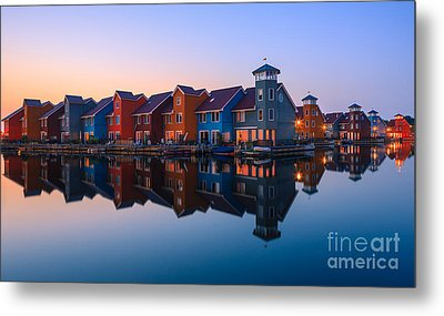 Any Colour You Like - Reitdiephaven - Netherlands Metal Print by Henk Meijer Photography