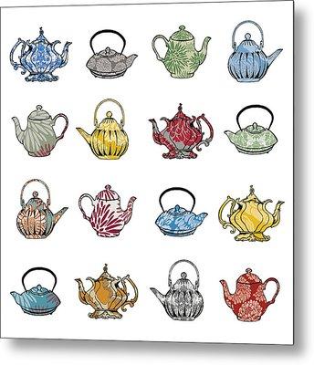 Anyone For Tea Metal Print by Sarah Hough