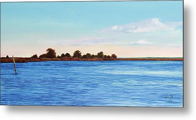 Apalachicola Bay Autumn Morning Metal Print by Paul Gaj