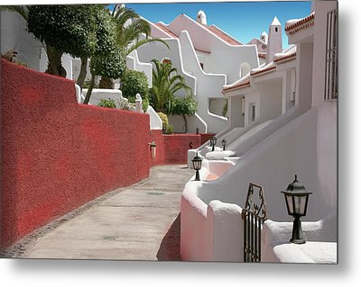 Apartments San Blas Tenerife Metal Print by Aleck Rich Seddon