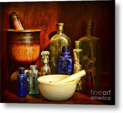Apothecary - Tools Of The Pharmacist Metal Print by Paul Ward