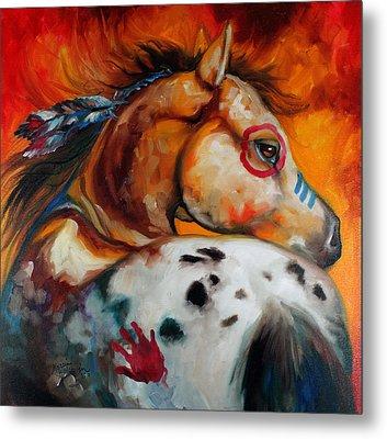 Appaloosa Indian War Pony Metal Print by Marcia Baldwin
