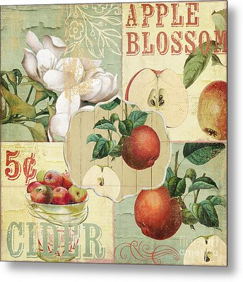 Apple Blossoms Patchwork Iv Metal Print by Mindy Sommers