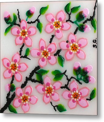 Apple Flower Metal Print by Gabriela Stavar
