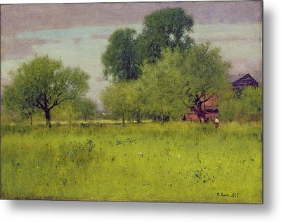 Apple Orchard Metal Print by George Snr Inness