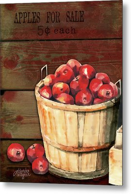 Apples For Sale Metal Print by Arline Wagner
