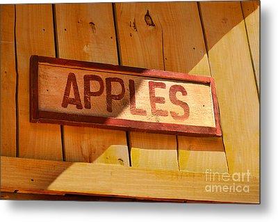 Apples For Sale Metal Print by Jennifer Apffel