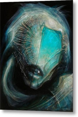 Aqua Alien Metal Print by Robert Anderson