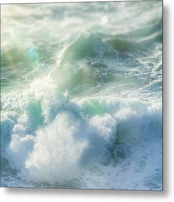 Aqua Surge Metal Print by Amy Weiss