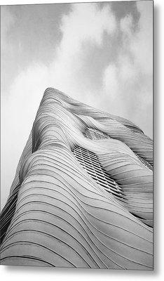 Aqua Tower Metal Print by Scott Norris