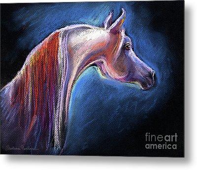 Arabian Horse Equine Painting Metal Print by Svetlana Novikova