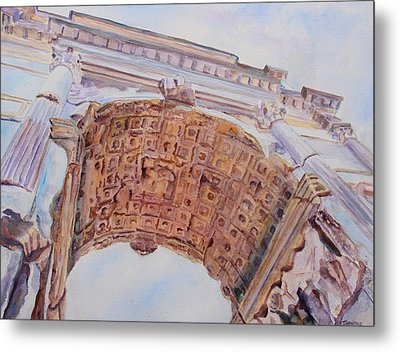 Arch Of Titus One Metal Print by Jenny Armitage