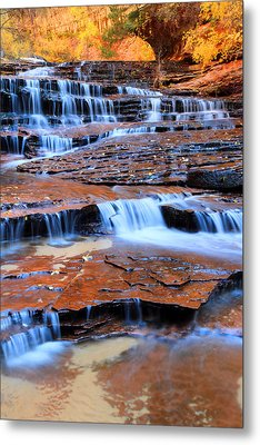 Archangel Falls In Zion Metal Print by Pierre Leclerc Photography