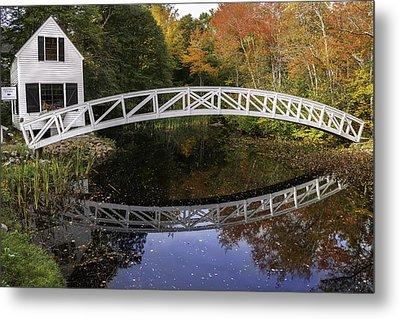 Arched Bridge-somesville Maine Metal Print by Thomas Schoeller
