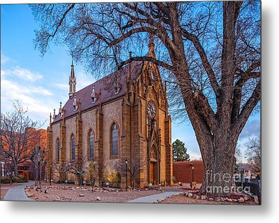Architectural Photograph Of The Loretto Chapel In Santa Fe New Mexico Metal Print by Silvio Ligutti
