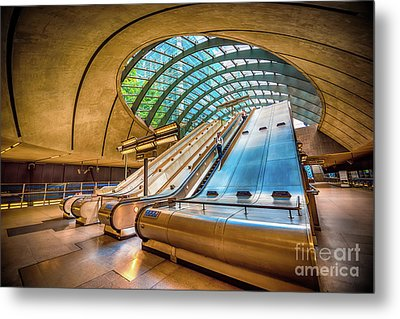 Architecture Of Canary Wharf Metal Print by Svetlana Sewell