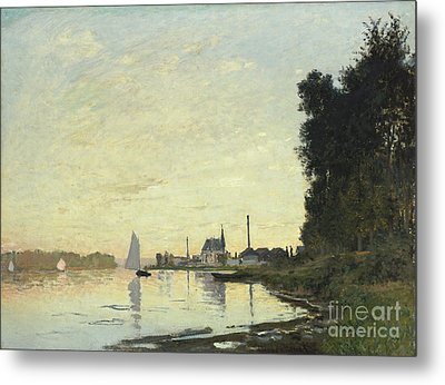 Argenteuil In Late Afternoon Metal Print by Claude Monet