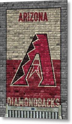 Arizona Diamondbacks Brick Wall Metal Print by Joe Hamilton