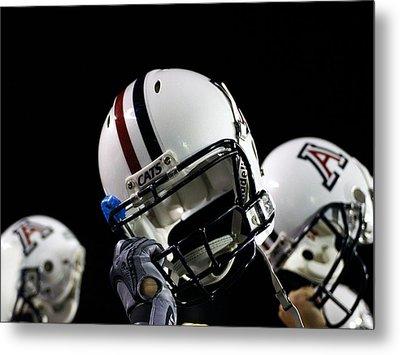 Arizona Football Helmets Metal Print by University of Arizona
