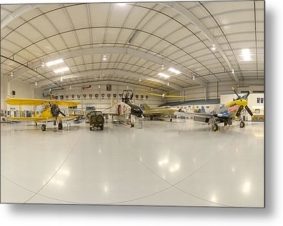 Arizona Wing Of The Commemorative Air Force Hangar March 28 2011 Metal Print by Brian Lockett