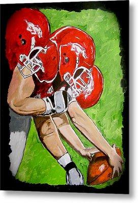 Arkansas Razorbacks Football Metal Print by Carol Blackhurst