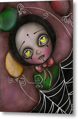 Arlequin Clown Girl Metal Print by  Abril Andrade Griffith