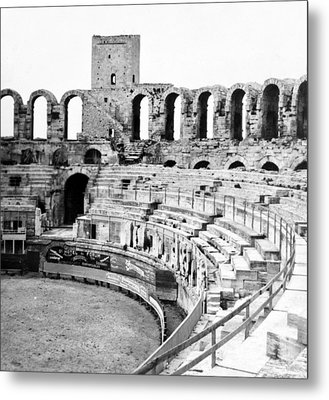 Arles Amphitheater A Roman Arena In Arles - France - C 1929 Metal Print by International  Images