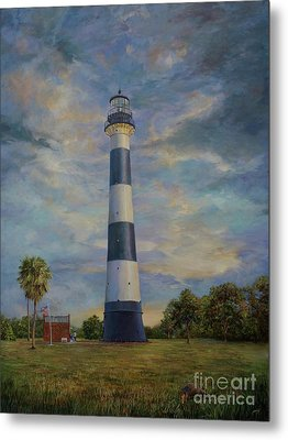 Armadillo And Lighthouse Metal Print by AnnaJo Vahle
