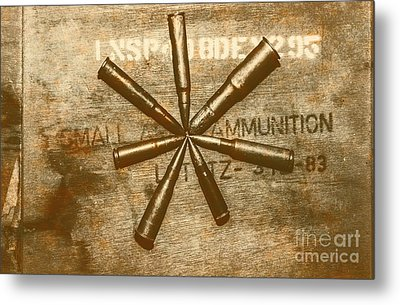 Army Star Bullets Metal Print by Jorgo Photography - Wall Art Gallery