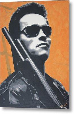 Arnold Schwarzenegger 2013 Metal Print by Luis Ludzska