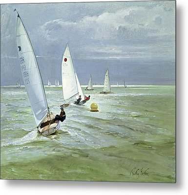 Around The Buoy Metal Print by Timothy Easton