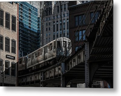 Around The Corner, Chicago Metal Print by Reinier Snijders
