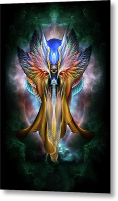 Arsencia Ethereal Glory Fractal Portrait Metal Print by Xzendor7
