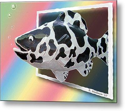 Art Fish Fun Metal Print by Brian Wallace