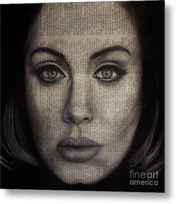 Art In The News 72-adele 25 Metal Print by Michael Cross
